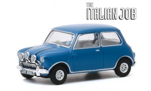 Austin Mini 1/64 Greenlight Cooper S 1275 MkI blue/black RHD 1967 The Italian Job diecast model cars