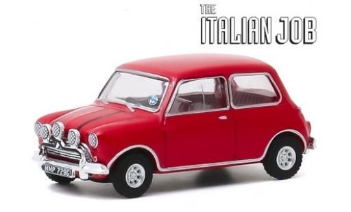 Austin Mini 1/64 Greenlight Cooper S 1275 MkI rojo/negro RHD 1967 The Italian Job coche miniatura