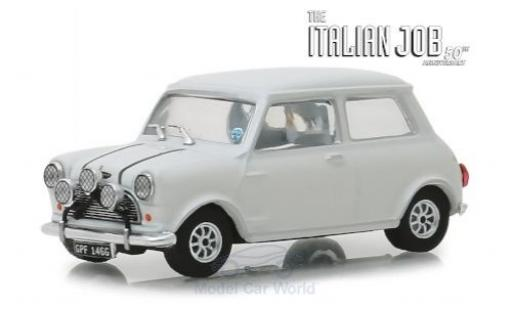 Austin Mini 1/43 Greenlight Cooper S 1275 MkI blanche RHD The Italian Job 1967 miniature