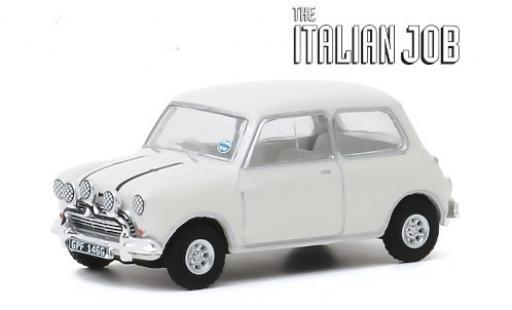 Austin Mini 1/64 Greenlight Cooper S 1275 MkI blanche/noire RHD 1967 The Italian Job miniature
