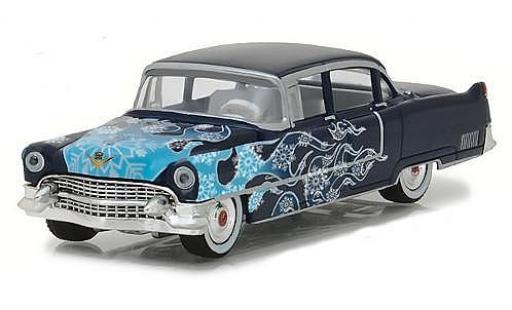 Cadillac Fleetwood 1/64 Greenlight Series 60 bleue/Dekor 1955 miniature