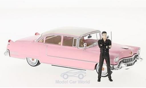 Cadillac Fleetwood 1/43 Greenlight Series 60 rose/blanche 1955 mit Figur Elvis Presley miniature
