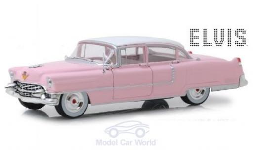 Cadillac Fleetwood 1/24 Greenlight Series 60 rose/blanche Elvis Presley 1955 miniature
