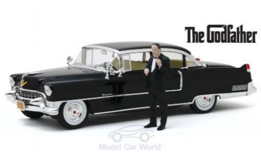 Cadillac Fleetwood 1/18 Greenlight Series 60 black The Godfather 1955 mit Don Corleone-Figur diecast
