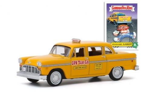Checker Marathon 1/64 Greenlight A11 GPK Taxi Co 1970 Unaware Aaron GarbagePailKids modellino in miniatura