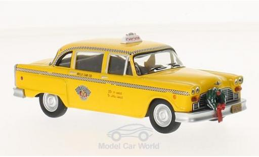 Checker Marathon 1/43 Greenlight gelb Scrooced 1978 Taxi modellautos