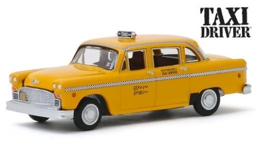 Checker Marathon 1/64 Greenlight Taxi Cab amarillo/Dekor Taxi Driver 1975 coche miniatura