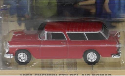 Chevrolet Bel Air 1/64 Greenlight Nomad rouge Home Improvement 1955 miniature