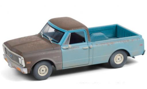 Chevrolet C-10 1/24 Greenlight blue/grey 1971 Independence Day avec traces d diecast model cars