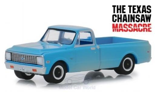 Chevrolet C-10 1/64 Greenlight bleue The Texas Chainsaw Massacre 1971 miniature