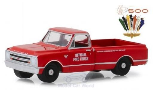 Chevrolet C-10 1/64 Greenlight Indianapolis 500 Official Fire Truck 1967 51th Indianapolis 500 miniature