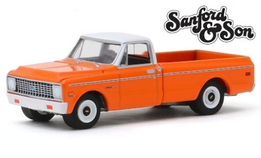 Chevrolet C-10 1/64 Greenlight orange/blanche Sanford & Son 1971 miniature