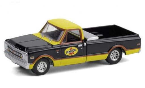 Chevrolet C-10 1/64 Greenlight Pennzoil 1968 diecast model cars