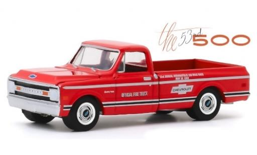 Chevrolet C-10 1/64 Greenlight rot/Dekor Official Fire Truck 1969 53rd Annual Indianapolis 500 Mile Race modellautos