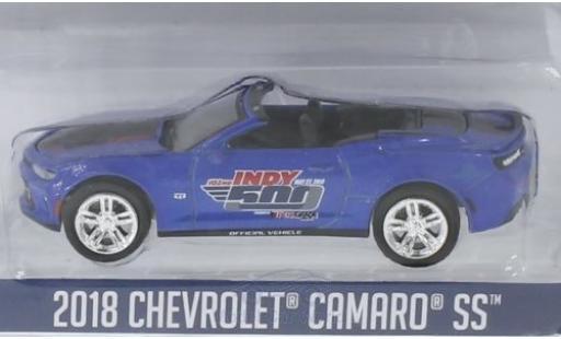 Chevrolet Camaro 1/64 Greenlight blau 2018 102 Running Indy 500 modellautos