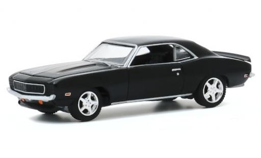 Chevrolet Camaro 1/64 Greenlight Tux nero 1969 modellino in miniatura