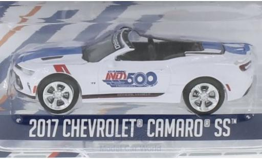 Chevrolet Camaro 1/64 Greenlight blanche 2017 101 Running Indy 500 miniature