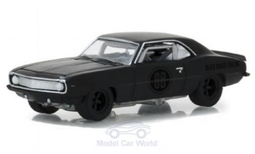Chevrolet Camaro Z28 1/64 Greenlight matt-noire 1969 Black Bandit Trans Am Racing Team miniature