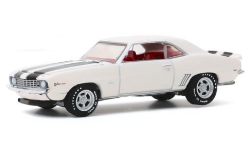 Chevrolet Camaro 1/64 Greenlight Z/28 bianco/nero 1969 modellino in miniatura