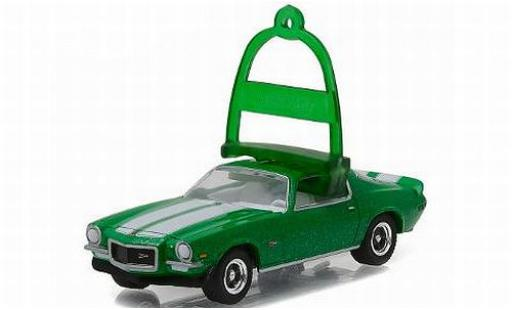 Chevrolet Camaro 1/64 Greenlight Z28 metallise verde/Dekor 1970 vacances Ornaments Series 1 sans Vitrine modellino in miniatura