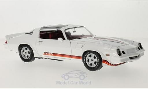 Chevrolet Camaro Z28 1/18 Greenlight Z28 blanche/rouge 1981 miniature