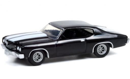 Chevrolet Chevelle 1/64 Greenlight Custom black/white 1970 diecast model cars