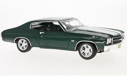 Chevrolet Chevelle 1/18 Greenlight SS 396 metallise verde/blanco Film John Wick 1970 coche miniatura