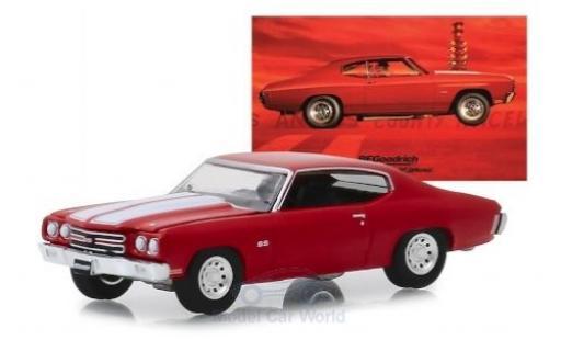 Chevrolet Chevelle 1/64 Greenlight SS 454 rojo/blanco Alexander Bluebird 1970 coche miniatura