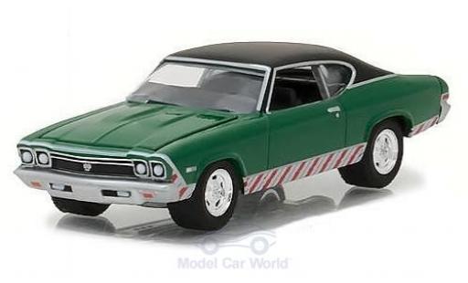 Chevrolet Chevelle 1/64 Greenlight SS verde/negro 1968 coche miniatura