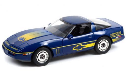 Chevrolet Corvette 1/18 Greenlight (C4) blue/Dekor Challenge 1988 toit détachable diecast model cars
