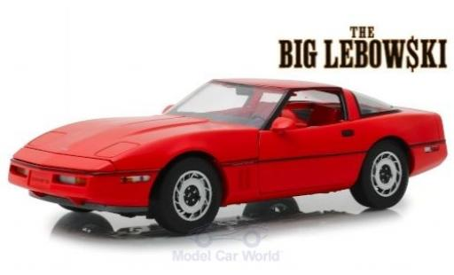 Chevrolet Corvette 1/18 Greenlight C4 rojo The Big Lebowski 1985 miniatura