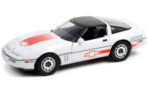 Chevrolet Corvette 1/18 Greenlight (C4) white/Dekor Challenge 1988 Dach abnehmbar diecast model cars