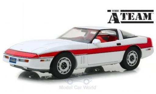 Chevrolet Corvette 1/18 Greenlight C4 blanche/rouge The A-Team 1984 miniature
