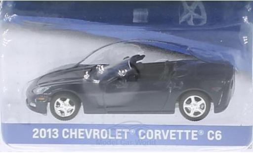 Chevrolet Corvette 1/64 Greenlight C6 metallise bleue 2013 ohne Vitrine miniature