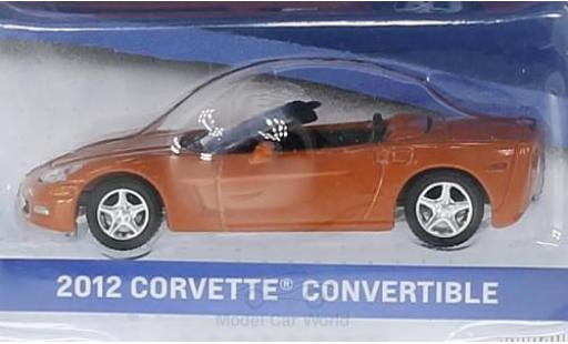 Chevrolet Corvette 1/64 Greenlight Convertible metallic orange 2012 General Motors Series 1 ohne Vitrine diecast