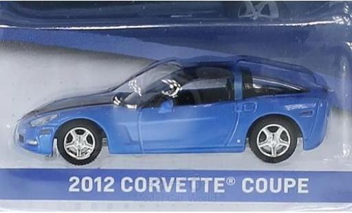 Chevrolet Corvette 1/64 Greenlight Coupe metallic blue/black 2012 General Motors Series 1 ohne Vitrine diecast
