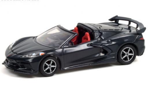 Chevrolet Corvette 1/64 Greenlight Stingray Convertible (C8) metallise grey 2020 diecast model cars