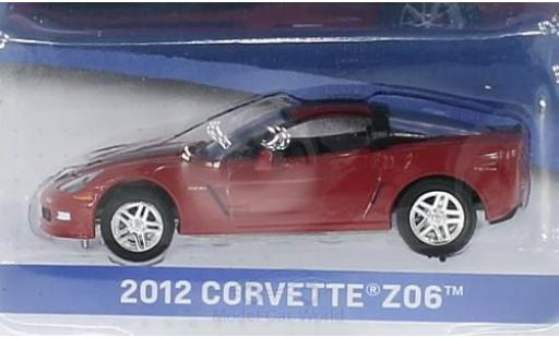 Chevrolet Corvette 1/64 Greenlight Z06 metallise rouge/noire 2012 General Motors Series 1 ohne Vitrine miniature