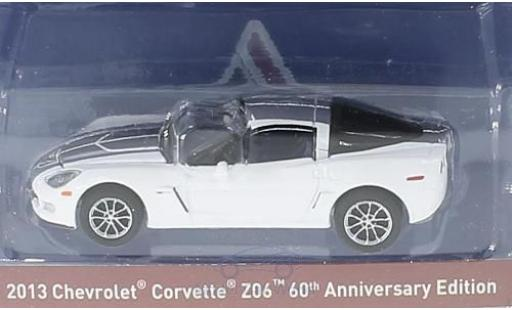 Chevrolet Corvette C6 1/64 Greenlight bianco/grigio 2013 60th Anniversary Edition miniatura