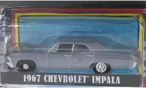 Chevrolet Impala 1/64 Greenlight metallise grise The A-Team 1967 miniature