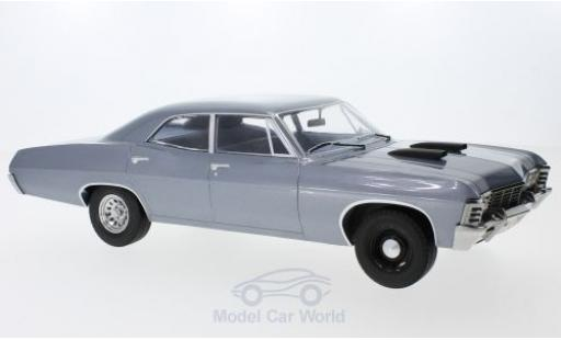 Chevrolet Impala 1967 1/18 Greenlight Sedan grise The A-Team miniature