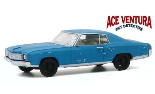 Chevrolet Monte Carlo 1/43 Greenlight matt-blue Ace Ventura - Pet Detective 1972 avec traces d diecast model cars