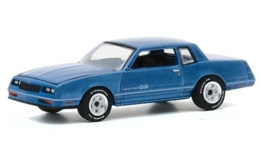 Chevrolet Monte Carlo 1/64 Greenlight SS metallise bleue 1984 Testfahrzeug miniature