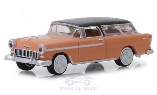 Chevrolet Nomad 1/64 Greenlight pink/grey 1955 diecast model cars