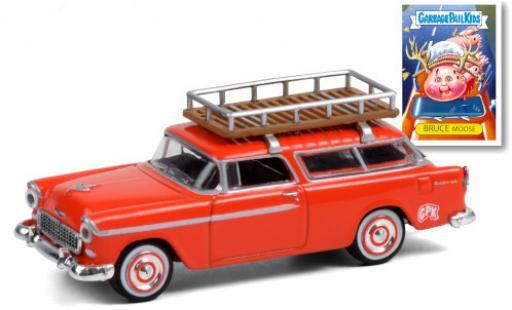 Chevrolet Nomad 1/64 Greenlight orange GPK - Garbage Pail Kids 1955 mit Dachgepäckträger diecast model cars