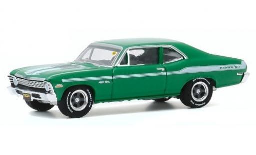 Chevrolet Nova 1/64 Greenlight green/Dekor 1972 diecast model cars