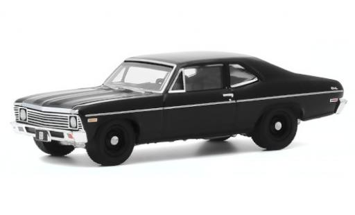 Chevrolet Nova 1/64 Greenlight noire 1968 miniature