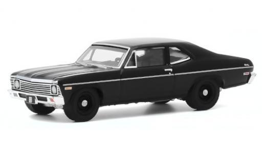 Chevrolet Nova 1/64 Greenlight black 1968 diecast model cars