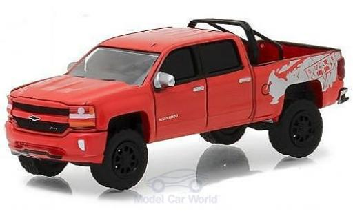 Chevrolet Silverado 1/64 Greenlight 1500 rouge 2018 miniature