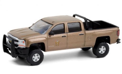 Chevrolet Silverado 1/64 Greenlight 1500 Washington State Police 2017 Departement of Poisson and Wildlife coche miniatura